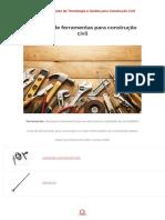 Catálogo de Ferramentas Para Construção Civil