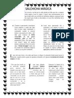 La Salchica Mágica. Ejercicios Columnas. Xochitl Reynoso