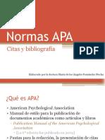Las Normas APA. Citas y Bibliografía (ST2, 2018)