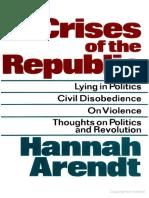 Arendt Esumen Hannah Arendt La Condicion Humana