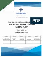 Procedimiento Para Desmontaje y Montaje de Juntas de Expansión Caldera Flash Zona PCO-2092-16