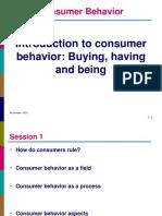 Day 1 Chapter 1 Consumer Behavior