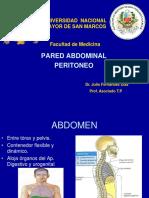 1. Pared Abdominal Peritoneo
