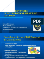 (2) Dittrichova-Capkova-Experience of System of Psychological Service of Czech FRS