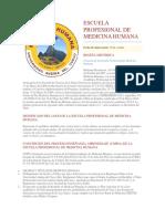 Escuela Profesional de Medicina Humana