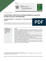 Características Clínicas de La Retinopatía Diabética en Pacientes