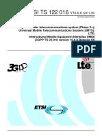 ETSI TS 122 016 V10.0.0 (2011-05)