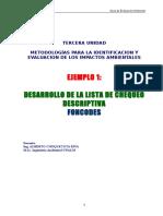 Ejemplo 1 Lista de Chequeo Descriptiva FONCODES