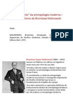 Aula Texto 02 - O Funcionalismo de Bronislaw Malinowski