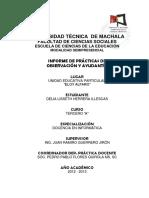 Informe Practica de Observación y Ayudantia