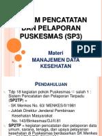 Sistem Pencatatan Dan Pelaporan Puskesmas (Sp3) (10)