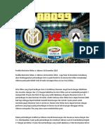 Prediksi Bola Inter Milan vs Udinese 16 Desember 2018