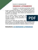 10 DESNUDOS LITERARIOS