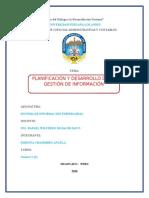 Planificación y Desarrollo de La Gestión de Información