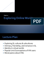 DIGC101 Lecture Week 12 - Exploring Online Worlds