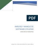 ANÁLISIS Y MANEJO DE SOFTWARE CYCLEPAD - Variación de Parámetros