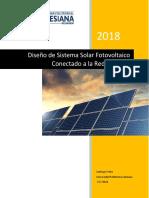 Diseño de Sistema Solar Foto-voltaico Conectado a la Red Eléctrica