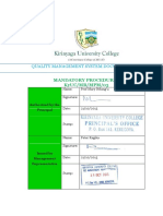 03 Mandatory Procedures Manual