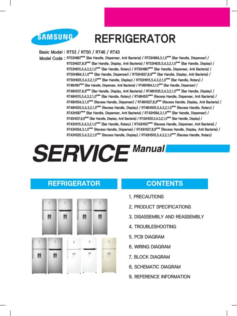 Samsung Refrigerador Inverter RT53 RT50 RT46 RT43 | Refrigerator