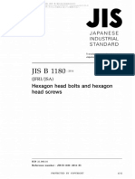 Japanese Standard for Hexagon Head bolts and Hexagon Head screws