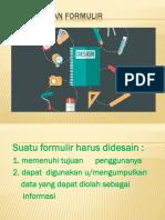 perancangan formulir