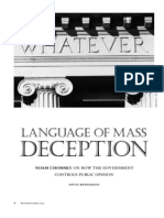 Noam Chomsky - Language of Mass Deception