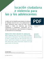 """""""Una educación ciudadana libre de violencia para las y los adolescentes"""""""