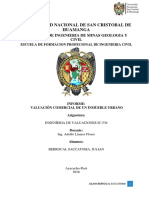 Informe Tasacion Comercial