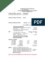 Proyección Impuesto Renta Honorarios