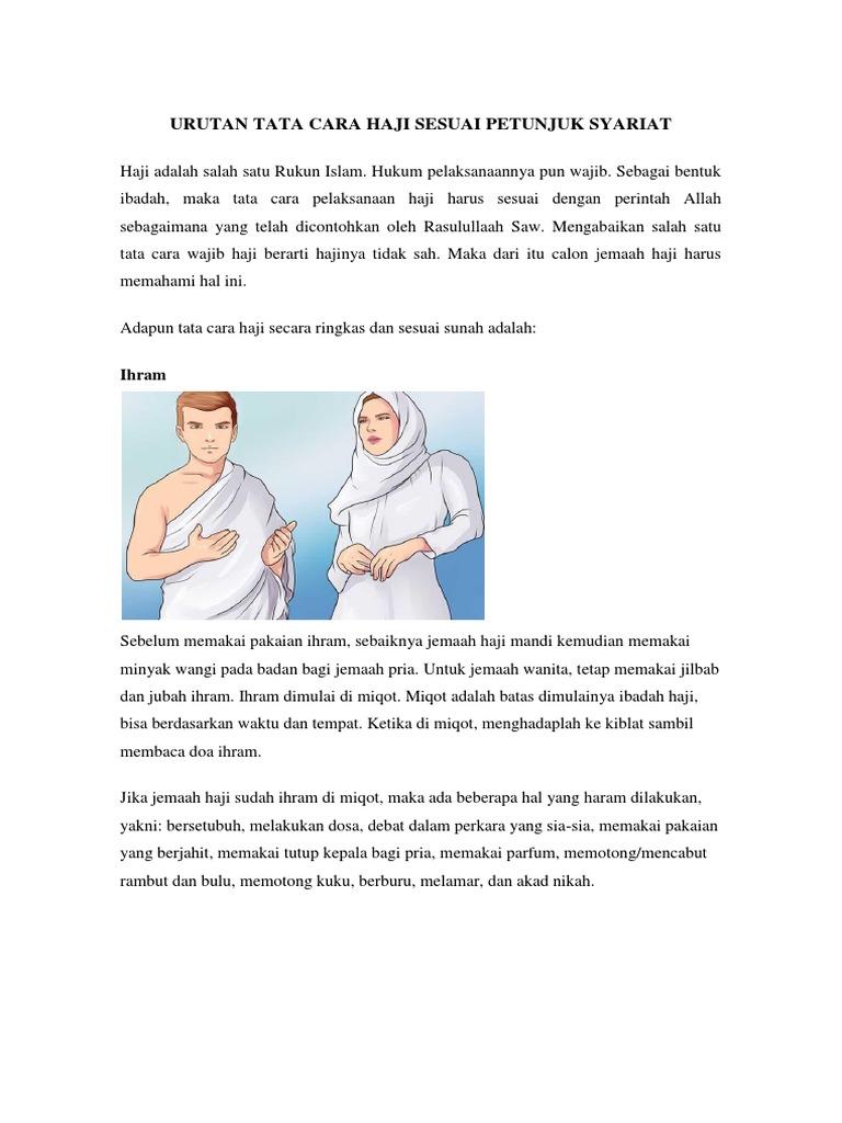 Tata Cara Haji