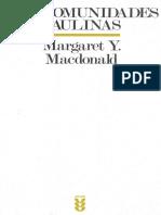 MaCDONALD Margaret Y. 1994 . Las Comunidades Paulinas