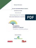Livre Des Conferences - Cancers Et Medecines Non-conventionnelles-2016