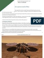 Listen _ NASA's InSight Lander Captures Sounds of Mars - The Hindu
