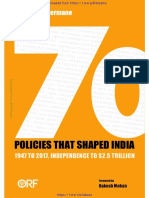 70 Policies That Shaped India 1947