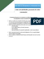 Condițiile de Retur Ale Mărfurilor Procurate de Către Consumator