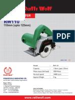 Rw110 Leaflet