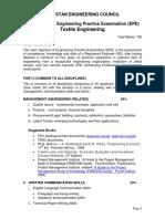 Curriculum of Textile Enginering
