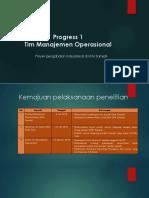 Progress Tim Manajemen Operasional