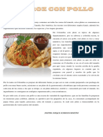 Artículo El Arroz Con Pollo