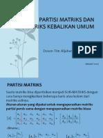 Materi 10 Matriks Kebalikan Umum 2016