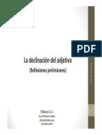6.1.1 Declinacion Del Adjetivo Prelilminares-2Ed