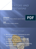 lecture 4- Operators and Expressions.ppt