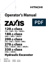 Hitachi 270-3 Class Hydraulic Excavator operator's manual SN021321 and up.pdf