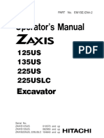 Hitachi ZAXIS 135US, 135USK, 135USL Excavator operator's manual SN 062955 and up.pdf
