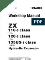 Hitachi ZAXIS 135USK-3 Class Hydraulic Excavator Service Repair Manual.pdf