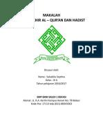 Al – Qur'an Dan Hadist (s)