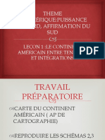 L'AMERIQUE UN CONTINENT ENTRE TENSIONS ET INTEGRATIONS REGIONALES