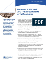 Between 1.5°C and 2°C – the big impacts of half a degree