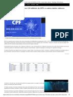 Falha Grave_ Servidor Vazou 120 Milhões de CPFs e Outros Dados Valiosos - Tecnologia - BOL Notícias