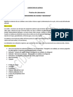Práctica de Laboratorio Indicadores de Acidez y Basicidad